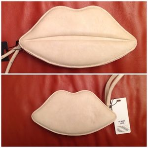 pink cosmo Handbags - Lips Wristlet