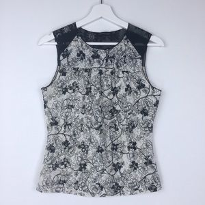3/$15 Kenneth Cole Sz XS Lace Floral Tank Top