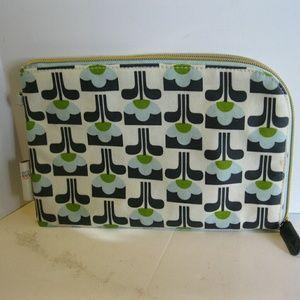 Orla Kiely Handbags - Orla Kiely makeup bag - Target - Blue Green