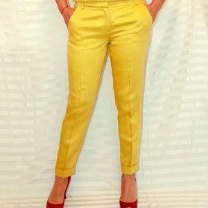 Les Copains Pants - Linen mustard pants