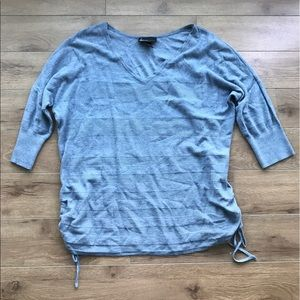 Lane Bryant sweater cotton blue 14 16 3/4 sleeves