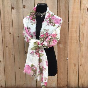 Accessories - Pink Peonies & Roses Spring Scarf/Wrap