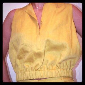 Les Copains Tops - Mustard linen top