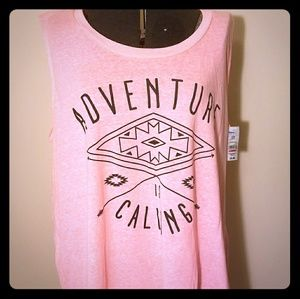 Tops - NWT Adventure Calling High-Low Tank