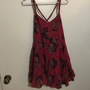 Urban Outfitters Red Floral Dress