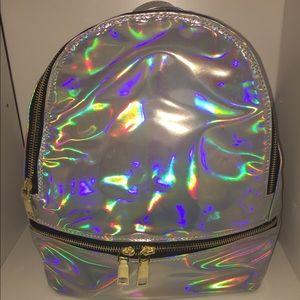 Pink Haley Handbags - NEW Fashion Metallic Backpack