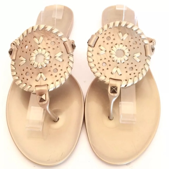 f315ea313fb Jack Rogers Shoes - Jack Rogers Gold Sparkle Georgica Jelly Sandals
