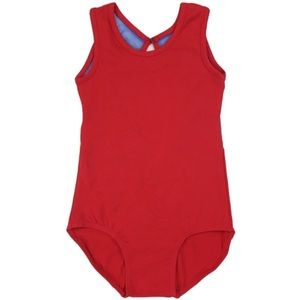 Wenchoice Other - NWOT RED & ROYAL BLUE RING BACK TANK TOP LEOTARD