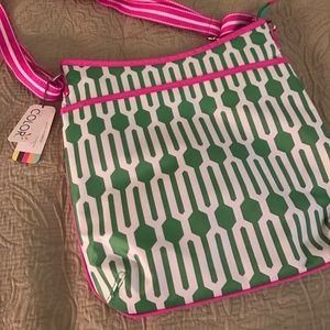 All For Color Handbags - Fun pink and green bag! WITH TAGS!