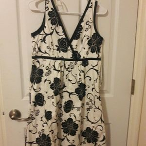 Melissa Masse Dresses & Skirts - Black and white flowered dress