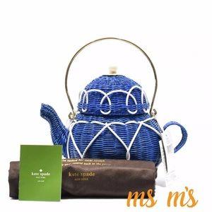 kate spade Handbags - NWT Kate Spade Wicker Teapot Bag Limited Edition