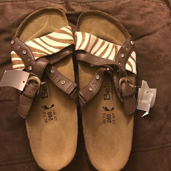 df62cb0f453f Betula Birkenstocks Animal Print Sandals New
