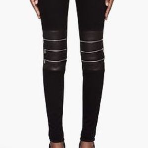 J Brand Denim - J BRAND Hewson Leather Detail Skinny Jeans