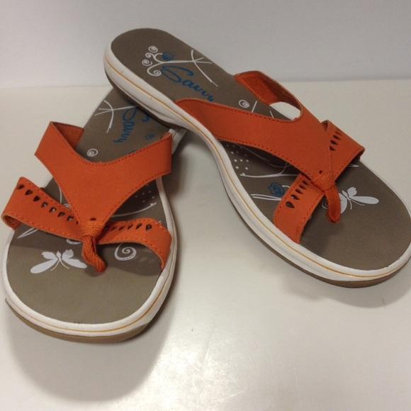 76f51e751267f Savvy sandals flip flops new orange 10. M 5936187d6a58308cb20193f6
