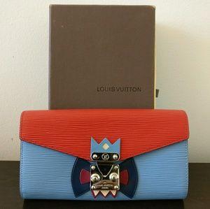 Monogram Damier Epi Sarah Tribal Mask Long Wallet