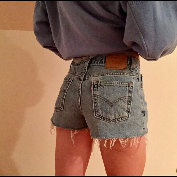 d56e4756 Urban Outfitters Shorts | Vintage Levis Light Wash Cheeky | Poshmark
