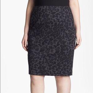 Sejour Dresses & Skirts - Like New Black and Gray Animal Print Pencil Skirt