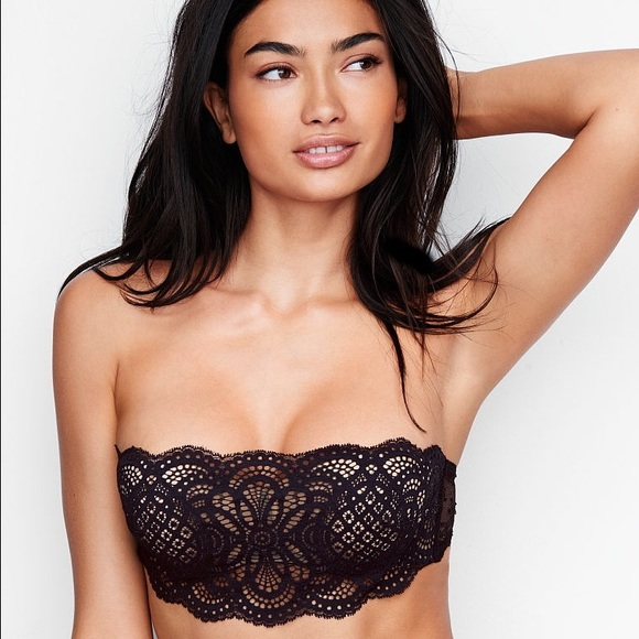 0c630f9fe0 Victoria s Secret Crochet Lace Strapless Bralette