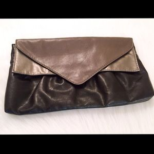 Handbags - Black/Gray/Metallic Silver Clutch