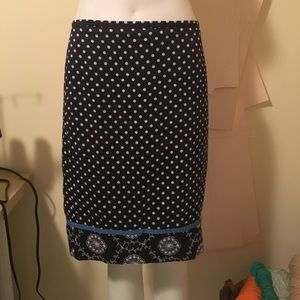 { ANN TAYLOR } Pattern Pencil Skirt