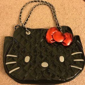 Sanrio Handbags - Hello Kitty Patent Purse with Chain Straps