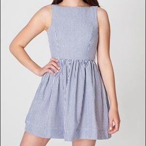 Dresses & Skirts - American Apparel 🌷 Seersucker Fit and Flare Dress