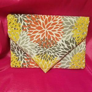 Large envelope clutch purse