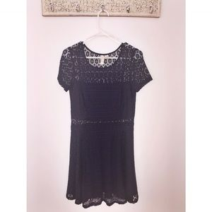 H&M Dark Blue Lace Dress Size 8 Skaterdress