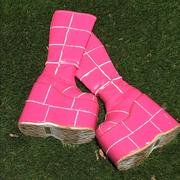 Demonia Shoes | Hot Pink Platform Boots