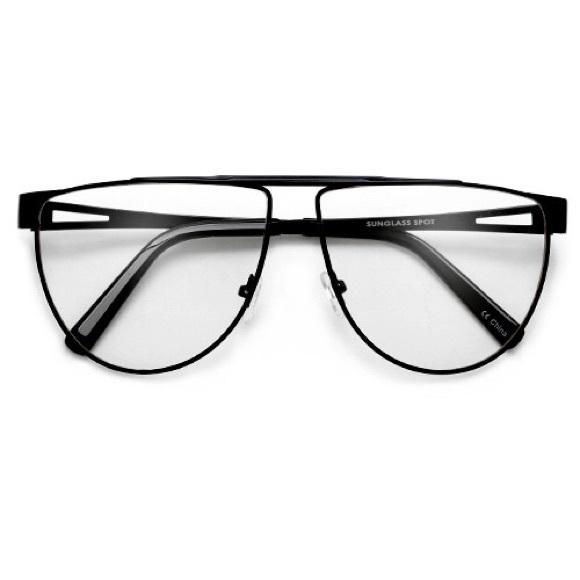 65e46aecbe 62mm Retro Square Clear Lens 70 s style eyewear