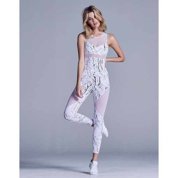 29cbe03241d90e lululemon athletica Pants - Varley Marble Mesh Cutout Leggings Yoga Pants
