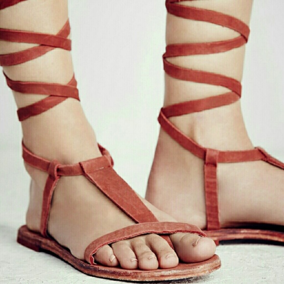 32da06f8b3c Free People Shoes - New Free People Dahlia Lace Up Sandal in rust