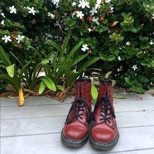 Vintage Doc Marten 1460 Cherry Red Boots size 8