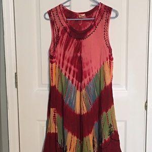 Dresses & Skirts - Hi Lo madras dyed Dress