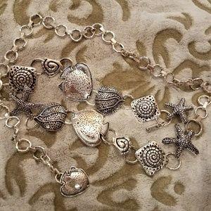 """Chico's Accessories - Chico's ~ """"In the Sea"""" silver-tone chain belt"""