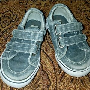 Sperry Top Sider Boys Gray Canvas Shoes size 7M