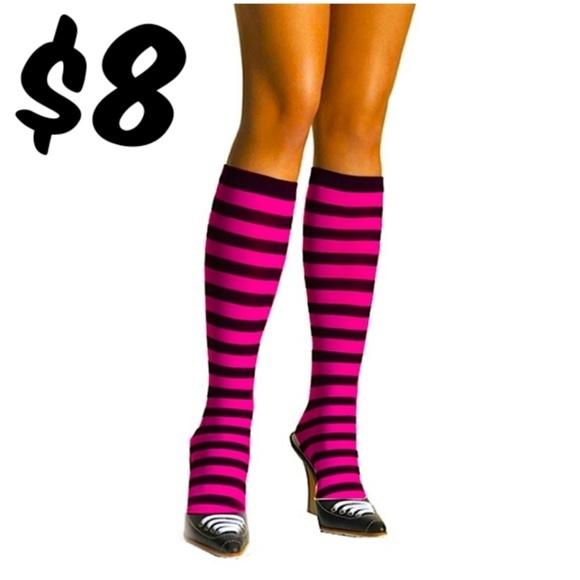 51b592f8008 Cosplay Stripe Knee Highs Socks Roller Derby