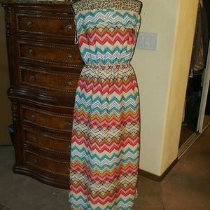 Dresses & Skirts - strapless tribal Maxi dress