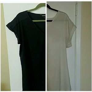 Express Tops - EXPRESS shirts black + ivory v-necks
