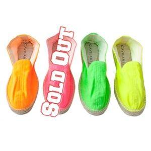 CAVILANI Shoes - CAVILANI NWT YELLOW ESPADRILLES