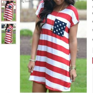 Dresses & Skirts - Red, White and Blue Proud Dress