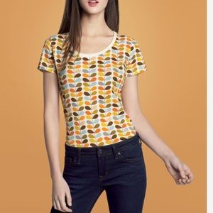 Orla Kiely Tops - Orla Kiely Leaf Patterned Tee Shirt Medium