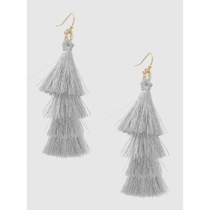 Hannah Beury Jewelry - Silver Layered Tassel Earrings