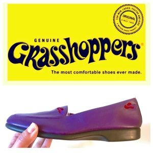 Grasshoppers by Keds! Leather Shoes, Purple, NWOT