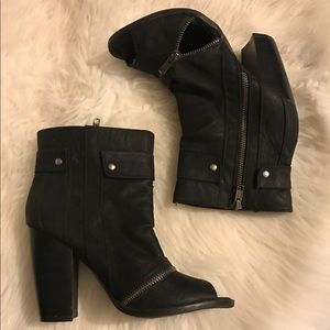 Black Ankle Heels Boots