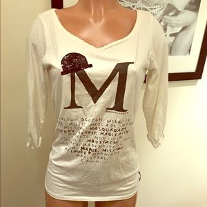 maison scotch Tops - Maison Scotch 3/4 length tee