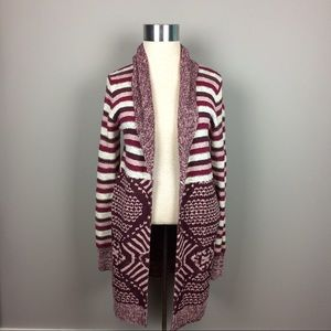 Ecote long cardigan open front sweater