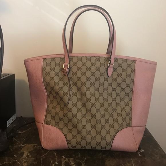 3eb7a5dc7e Gucci Handbags - Authentic Pink Gucci Bree Tote