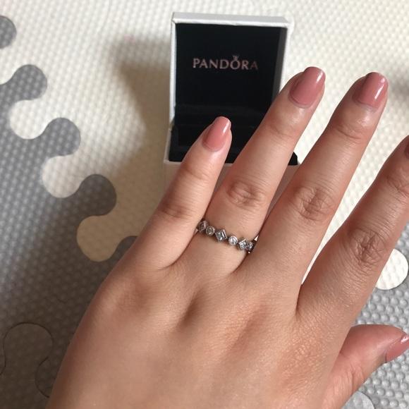 8f67ddab4 Pandora Alluring Brilliant Princess Stackable Ring.  M_593c208c2ba50abf95008ad8
