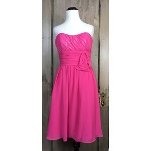 Bubble Gum Pink Strapless Dress